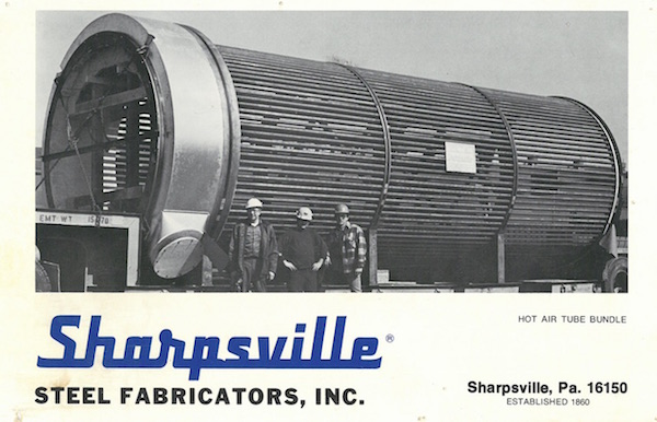 sharpsville-container-hot-air-tube-bundle-circa-1950