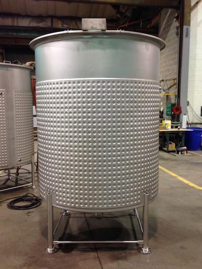 Two heat transfer tanks made by Sharpsville Container