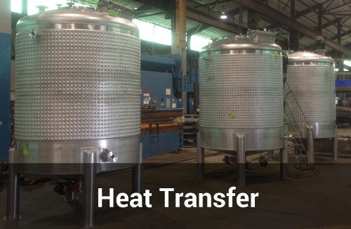 Three Heat Transfer Tanks by Sharpsville Container