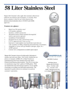58 Liter Stainless Steel Tank Brochure