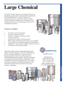 Large Chemical Containers Brochure
