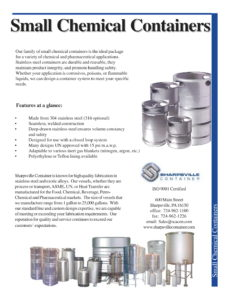 Small Chemical Containers Brochure