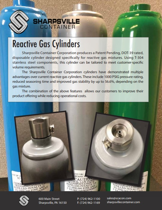 reactive gas cylinders brochure