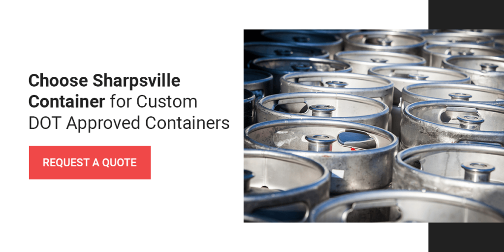 Contact Sharpsville Container for custom DOT-approved containers